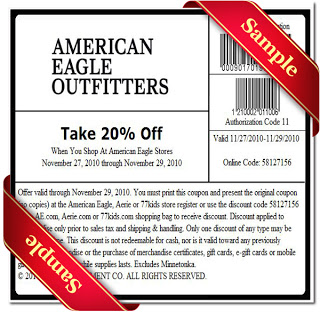 American Eagle printable coupons