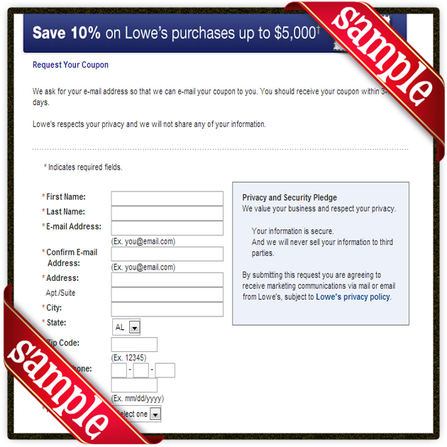 Sample Printable Lowes Coupons and promo discount