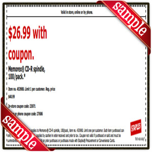 $26 Staple Coupon Printable for April