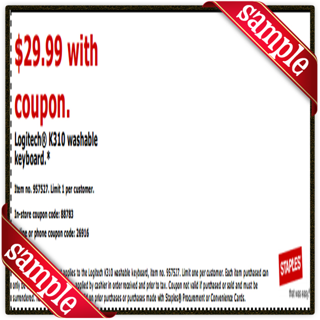 Staples laptop discount coupons