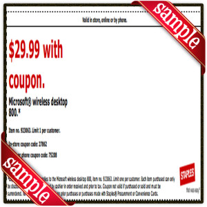 $29 Microsoft Staple Coupon Printable for April