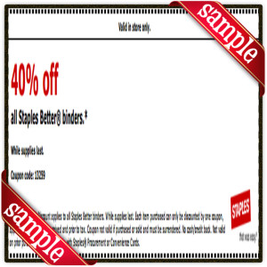 40% Off Staple Coupon for April