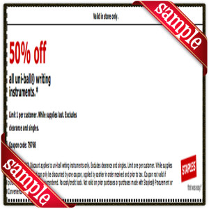 50 Off Staple Coupon Printable for April