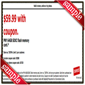 $59 Staples Prinable Coupon December 2016