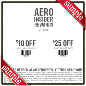 Aero Coupon April 2013
