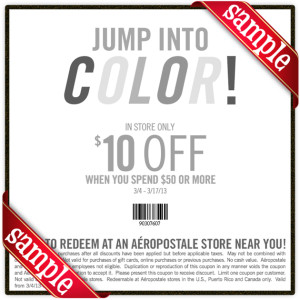 Aero 10 Off Coupon 2013