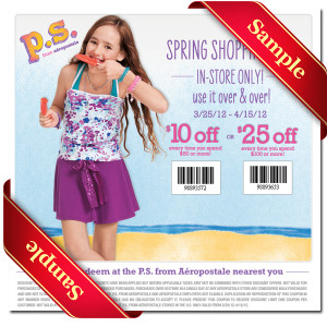 Aeropostale Free Printable Coupon 2013