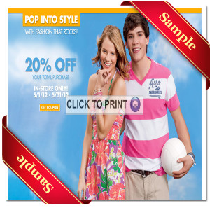 Aeropostale Printable Coupon 2013
