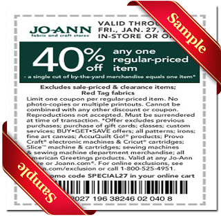 Joann Coupon 2013