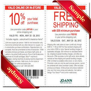 Joann Coupons 2013