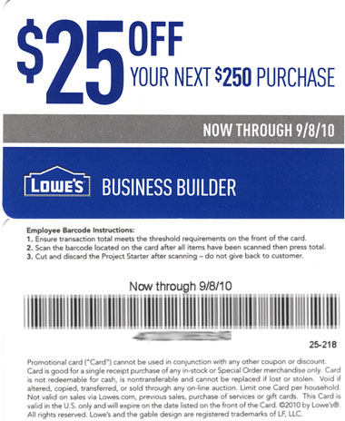 Discount coupons for lowes