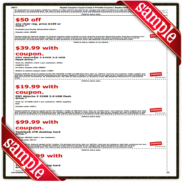 It is a graphic of Sizzling Staples Coupons Printable 2013