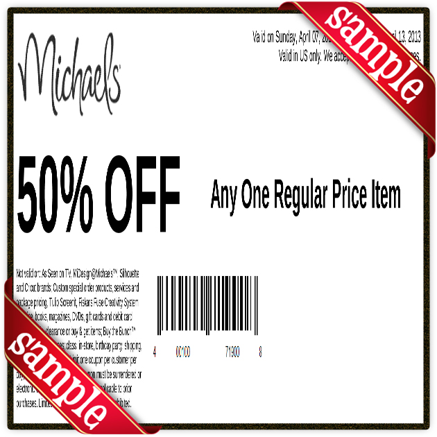 Michaels coupon code 50 off