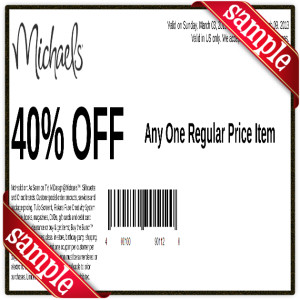 Michaels coupon December 2016