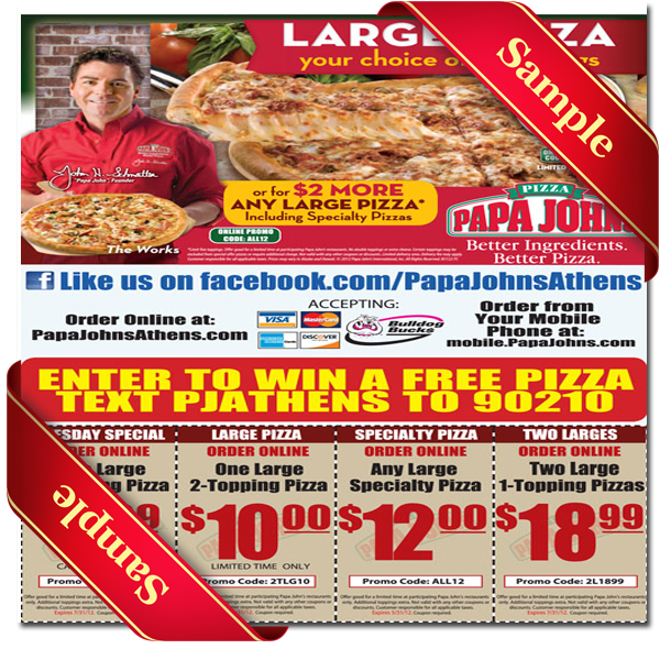 image regarding Papa Johns Printable Menu referred to as Papa Johns Printable Coupon December 2016