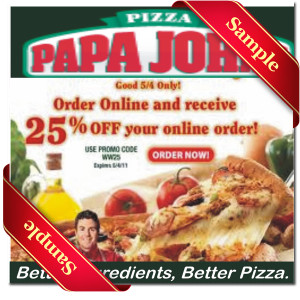 Papa johns in store coupons