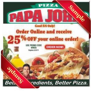 Papa johns sides coupons