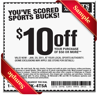 graphic relating to Sports Authority Coupons Printable named Athletics Authority Printable Coupon December 2016