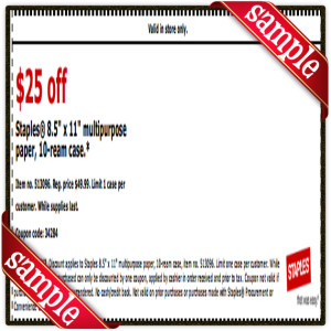 Staple Coupon Printable for December 2016