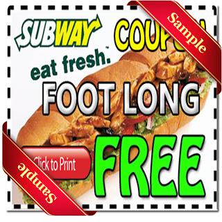 Subway coupons 2019