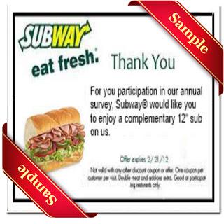 Subway coupons printable December 2016