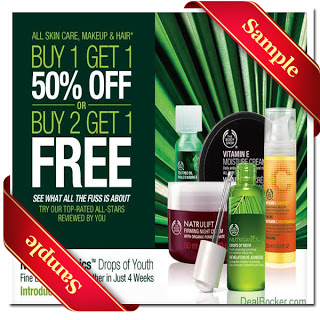 The Body Shop Coupons 2016 for free