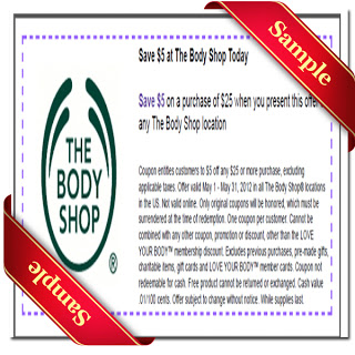The Body Shop Coupons 2015