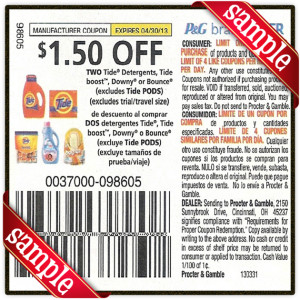 Tide Coupons 2016 from ebay