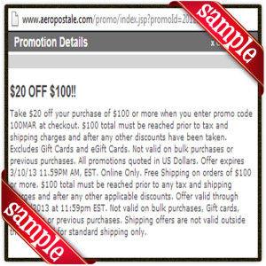 aeropostale Discount June 2016