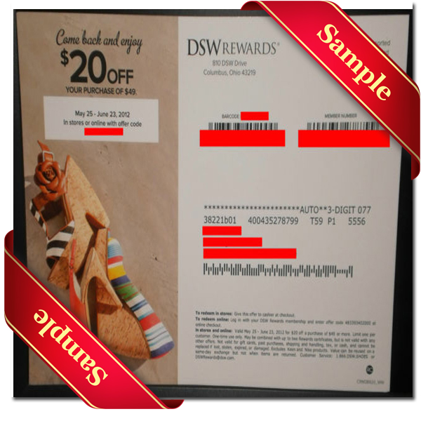 Sample Dsw Printable Coupon and Mail-in Coupons