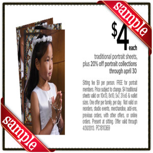 jc portrait coupon 2013 April
