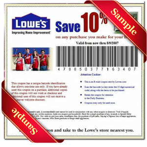 lowes coupons 2013