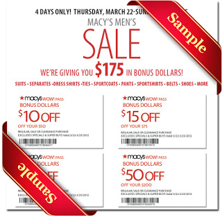macy's coupons 2013