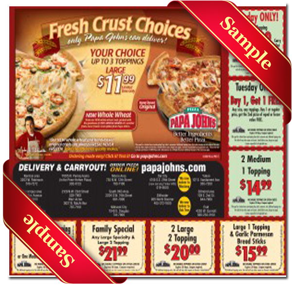 photograph about Papa Johns Printable Menu named Papa Johns Printable Coupon December 2016