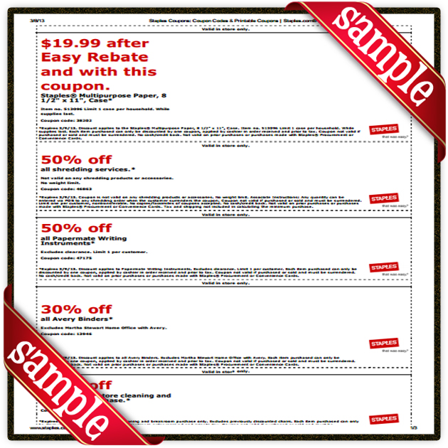 Staples Printable Coupon December 2016