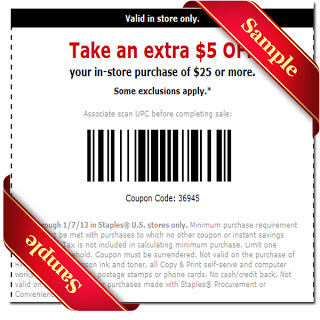 staples coupon 2013