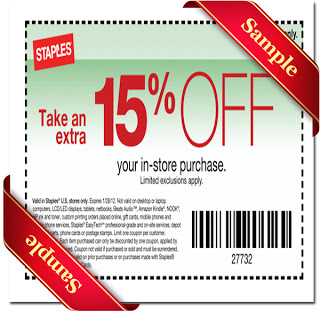Staples Printable Coupon December 2013