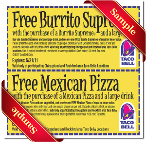 graphic relating to Taco Bell Coupons Printable named Taco bell discount coupons printable june 2018 - Corso particular person