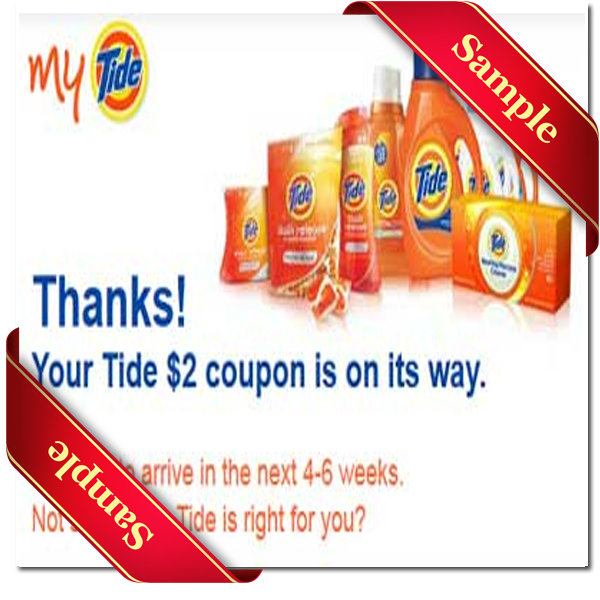 Tide discount coupons