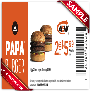 A&W printable Coupons 2015