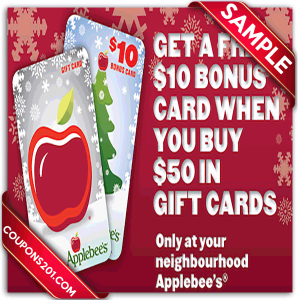Applebee's discount coupons