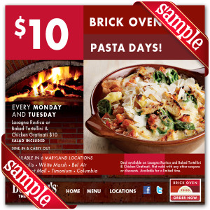 Bertuccis Off Coupon 2016