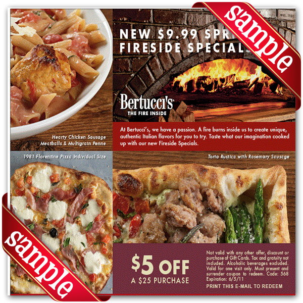 Bertuccis coupon code