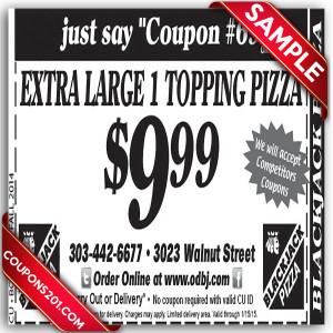 BlackJack Pizza Coupon