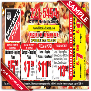 BlackJack Pizza coupon free