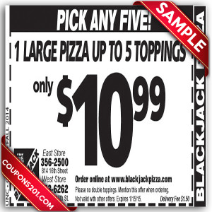 BlackJack Pizza free printable coupons