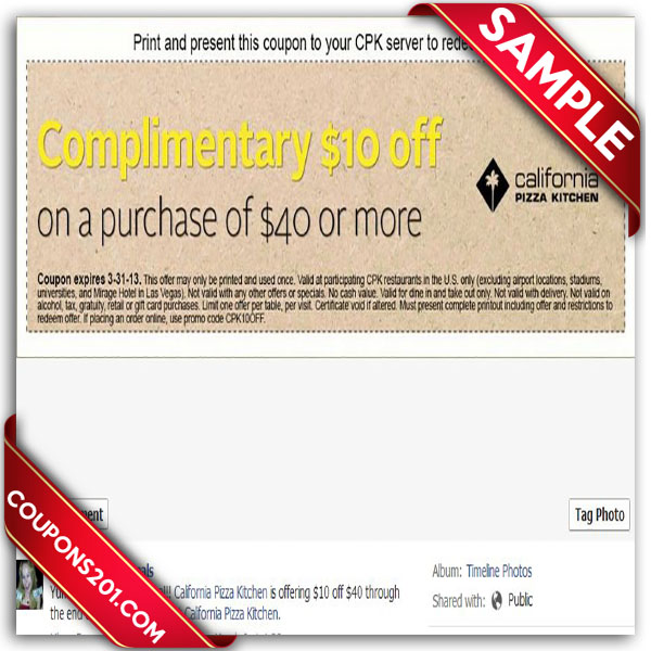 Beautiful ... Coupons California Pizza Kitchen Free Coupon ...