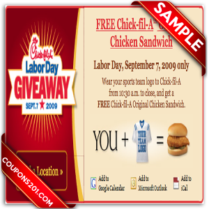 Www chick fil a coupons