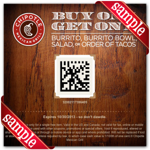 Chipotle Mexican Grill Online Coupons
