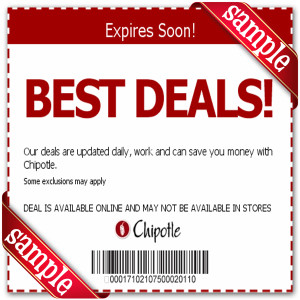 Chipotle Mexican Grill Printable Coupons